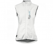Thermal vest protector, women, white/ blue