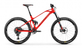 FOXY CARBON RR 27,5, flame red/light blue